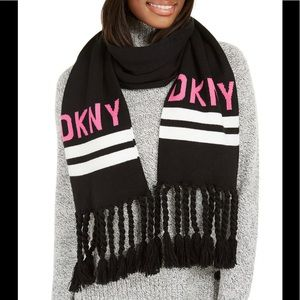 Neon Pink DNKY Scarf 🧣
